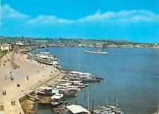 Postcard Romania Tulcea vedere din port barca navigatie marea neagra faleza