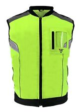 Hi-Vis Reflective Motorcycle Vest Motorbike Waistcoat Bike Work Jacket
