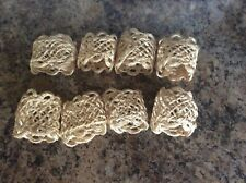 New listing Handmade Round Mesh Napkin Rings Set of 8 Holder for Dinning Table Parties