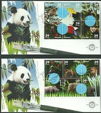 NETHERLANDS 2006 , First Day Cover 536, Zoo animals (2 envelopes)(nl)