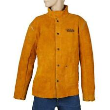 heavy duty xx-large leather welding jacket | brown tall xxl protective work coat