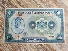 More details for luxembourg 100 francs 1944 banknote