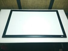 32 x 19 The Board Design White Board with Thick Black Wooden Frame and Eraser