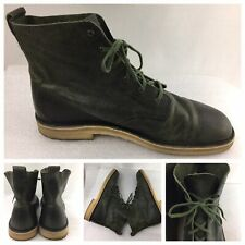 Clarks Original Desert Mali Leather Dark Green Lace Up Ankle Boots Men US 11.5 M