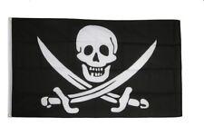 Fahne Pirat mit zwei Schwertern Flagge Piraten Hissflagge 90x150cm