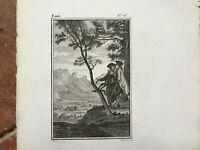 XVIII Antik Gravur Geschliffenes Süßwasser Jean-Jacques L'em Ile