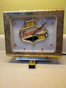 Vintage FALSTAFF BEER Lighted Advertising Clock - Restore or Parts