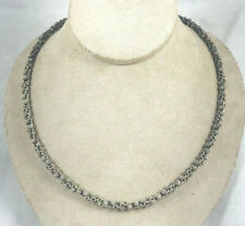 """Barbara Bixby 18Kt Gold & Sterling 20"""" Flower Chain Necklace"""