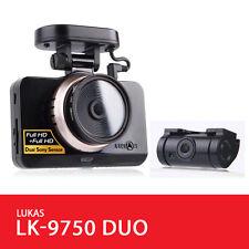"Lukas LK-9750 Dual Save Dash Camera 2Ch FHD 4"" LCD Gps International Ver 8G+8G"