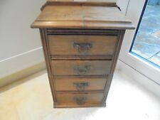 Vintage small mini chest of 4 drawers for storage, art sewing jewellery, bedside