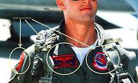 AS SEEN ON MOVIE TOPGUN TOP GUN PETE MITCHELL FLIGHT SUIT RIGHT ARM 3-PATCH SET