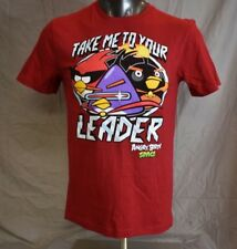 Licensed Mens Angry Birds Space Take Me To Your Leader Shirt New S