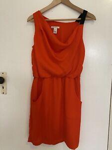 MNG Mango (zara Group) Dress Fits Sz 8-10 Cowl Drape One Asymmetric Shoulder