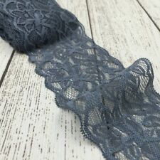 1 Metre of 8cm Elastic Stretch Lace Trim Ribbon Fabric Decor Crafts Sewing DIY