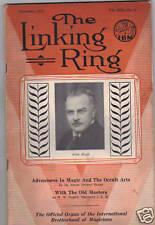 The Linking Ring - November 1933 (Magic / Magicians)