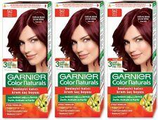 3 x GARNIER COLOR NATURALS HAIR COLOURANT CREAM PERMANENT DYE - Vibrant Red 562