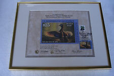 Framed Mottled Duck $15 Stamp with Certificate from U.S. Fish & Wildlife