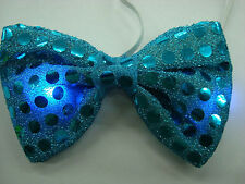 Shiny Sequin Bow Ties - Light Up Bow Tie Blinking Costume Party Accessory LED