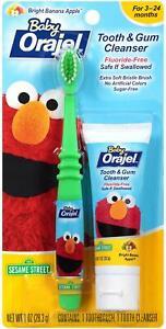 Baby Orajel ELMO Fluoride-Free Tooth & Gum Cleanser 1.0 oz (Banana Apple) 09/21