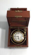 WALTHAM 8-Day Marine Ship CHRONOMETER Clock in 3 Tier Box - Working - VERY RARE!