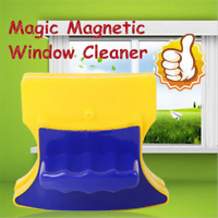 Magic Magnetic Window Double Side Glass Wiper Cleaner Cleaning Brush Pad Scraper