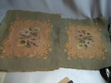 2 Hiawatha Wool Needlepoint Chair Seat Cover Tapestries England 15 X 17