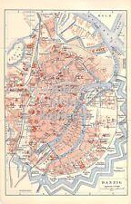 Danzig farbig um 1898 historische alte Landkarte Stadtplan map