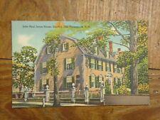 Vintage Postcard John Paul Jones House, Erected 1732, Portsmouth, N.H.