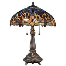 Table Lamp Shade Home Decor Tiffany Red Dragonfly Stained Glass Bronze Modern