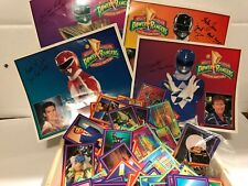 1994 Mighty Morphin Power Rangers Fan Box signed posters, pots,and collector car