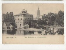 Frankfurt a M Alte Mainbruecke m d Brueckenmuehle Germany 1907 Postcard 444a