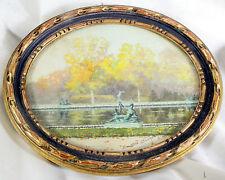 AQUARELLE ?Litho ?  Signée sur la marquise (voir photo) Cadre en bois doré Manqu