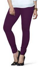 Indian Cotton Churidar Lyra Free Size Purple Women Legging Kurta Kurti Free Ship