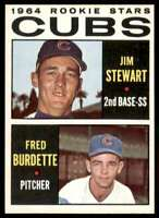 1964 Topps Jim Stewart , Fred Burdette Chicago Cubs #408