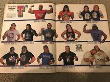 1989 WWF Merchandise Catalog Shirt Poster HULK HOGAN ULTIMATE WARRIOR DEMOLITION