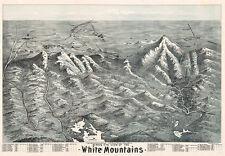 Birds eye view of the White Mountains c1890s repro 28x20