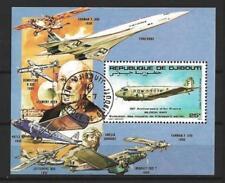 Avions Djibouti (4) bloc oblitéré