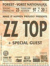 RARE / TICKET DE CONCERT - ZZ TOP : LIVE A FOREST NATIONAL ( BELGIQUE ) 1997