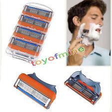 4 pcs Afeitadora maquinilla de afeitar Blade 5 Capas Para For Gillette Fusion