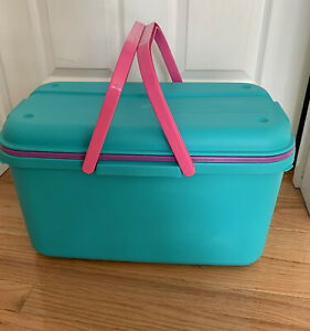Eagle Craftstor Craft Sewing Tote with Tray - Teal Purple Pink