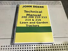 212 John Deere Lawn and Garden Tractor Technical Service Shop Repair Manual