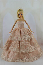 Fashion Handmade Princess Dress Wedding Clothes Gown for Barbie Doll Gifts a06