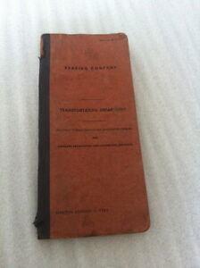 1951 VINTAGE RR TRAIN BOOK READING TRANS DEPT EXAM LOCOMOTIVE FIREMEN ENGINEERS