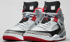 Nike Jordan Spizike BG High Tops – Wolf Grey/Gym Red-Black – 6.5Y – 317321 013