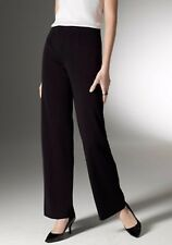 EXCLUSIVELY MISOOK CLASSIC BLACK SILKY KNIT STRAIGHT LEG PULL-ON PANT EUC M