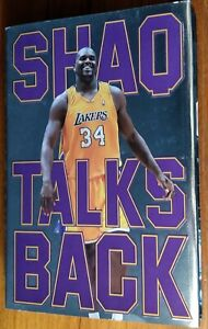 """Shaquille O'Neal Signed Book """"Shaq Talks Back"""" First Edition"""