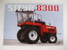 STEYR 8300 NL language tractor Catalogue Prospekt sales brochure 6 pages