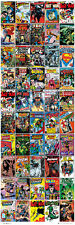Huge Door-Sized DC COMICS 50 HISTORIC COVERS POSTER Batman Superman Wonder Woman