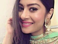 Bollywood Gold Plated  Pearl Earrings Women's Jewelry Big Jhumka Jhumki Set 001