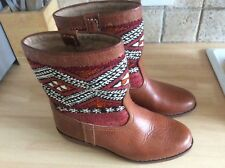 Leather Kilim Boots 4 5 shoes Tapestry Carpet Hippie boho ethno 37 38 festival